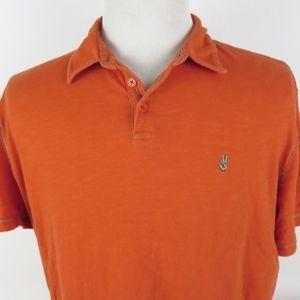 John Varvatos XL Slim Fit Peace Polo Shirt *FLAW*